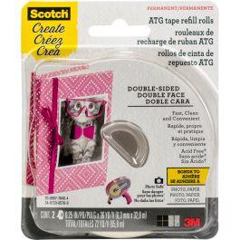 """Scotch Advanced Tape Glider Acid Free Refills 2/Pkg .25""""X36Yd Each, For Use In 085 - 085RAF"""