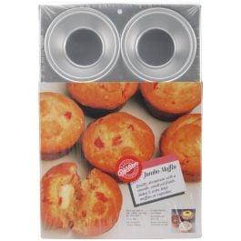 """Jumbo Muffin Pan 6 Cavity 4""""X2"""" - W1820"""