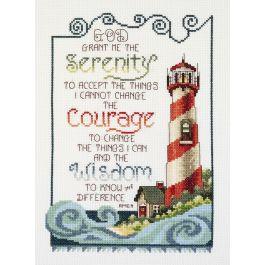 "Janlynn Counted Cross Stitch Kit 7""X10"" Serenity Lighthouse (14 Count) - 80-0475"