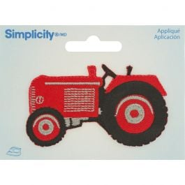 Simplicity Iron On Applique Red Tractor - 19314750