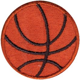 Wrights Iron On Applique Basketball - 196 856-0001