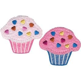 Wrights Iron On Appliques 2/Pkg Cupcakes - 196 890-0001