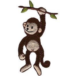 Wrights Iron On Applique Monkey On Branch - 196 892-0001