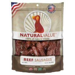 Natural Value Treats 14Oz Beef Sausages - LP8072