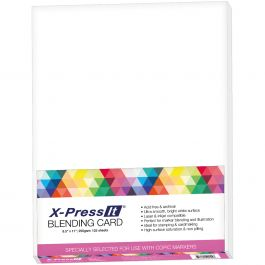 "X Press Blending Card 8.5""X11"" 125/Pkg White - XPBC"