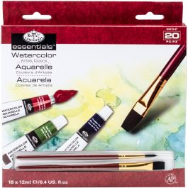 Essentials(Tm) Watercolor Paints 12Ml 20/Pkg Assorted Colors - WAT18