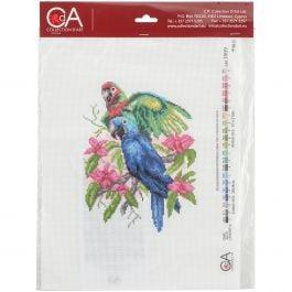 Collection D'Art Stamped Cross Stitch Kit 28X34Cm Parrots - CDPA1009