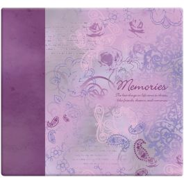 "Mbi Inspirations Post Bound Album 12""X12"" Memories  Purple - 848127"