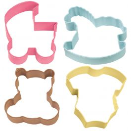 Metal Cookie Cutter Set 4/Pkg Baby Theme - W1067