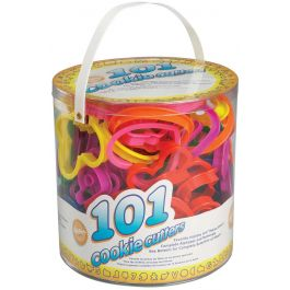 Plastic Cookie Cutters 101/Pkg Assorted Shapes, Numbers & Letters - W1050