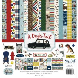 """Echo Park Collection Kit 12""""X12"""" A Dog'S Tail - ADT15516"""