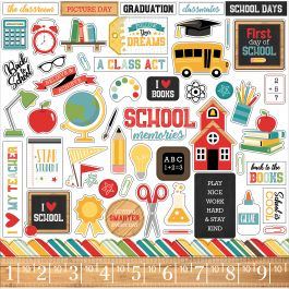 "Back To School Cardstock Stickers 12""X12"" Elements - BTS15614"