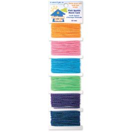 Clubhouse Crafts Elastic Cord Thick Sparkle  3Yd Each Of 6 Colors - 8900EC-1-11
