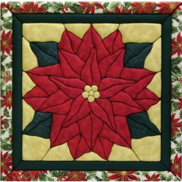 Poinsettia Quilt Magic Kit Poinsettia - QM418