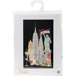 """Thea Gouverneur Counted Cross Stitch Kit 19.5""""X31"""" New York On Aida (18 Count) - TG47105"""