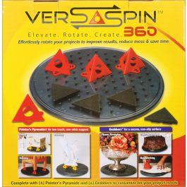 "Versaspin 360 Project Turntable 11"" W/4 Painter'S Pyramids & 4 Grabbers - KM1288"