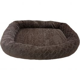 "Sleep Zone 40"" Diamond Cut Oval Orthopedic Dog Bed Chocolate - 30990"