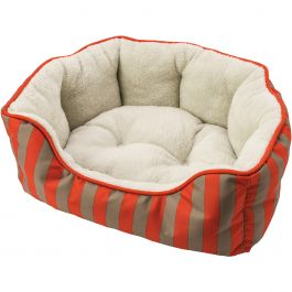 "Sleep Zone 24"" Cabana Step In Scallop Shape Dog Bed Orange - 31002"