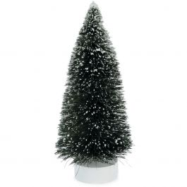 "Sisal Bottle Brush Tree W/Snow 3.5""X8""  - 2513353"