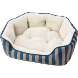 "Sleep Zone 24"" Cabana Step In Scallop Shape Dog Bed Blue - 31005"