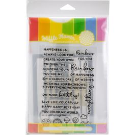 Waffle Flower Stamp & Die Set Rainbows & Rainbow Panel - WFC176