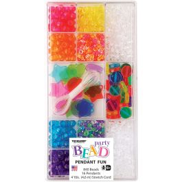 Party Bead Box Kit Translucent Coin - B6585