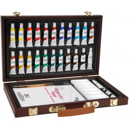 Studio 71 Wood Box Watercolor Painting Set 34/Pkg-