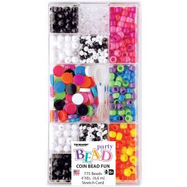 Party Bead Box Kit Opaque Coin - B6586