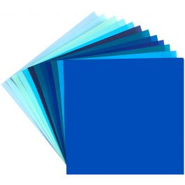 "Origami Paper 5.875""X5.875"" 48/Pkg Shades Of Blue, 12 Colors - BS-1"