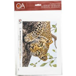 Collection D'Art Stamped Cross Stitch Kit 37X49Cm Leopard (14 Count) - CDPA1881