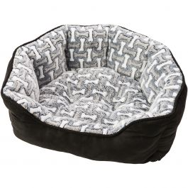 "Sleep Zone 31"" Bones Step In Scallop Shape Dog Bed Midnight - 31033"