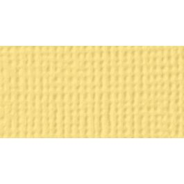 "American Crafts Textured Cardstock 12""X12"" Banana - AM710-502"