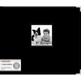"K&Company D Ring Binder Album 15.5""X13"" Black - 30705968"