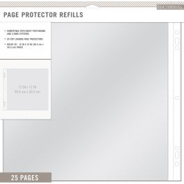 """K&Company Page Protector Refills 12""""X12"""" 25/Pkg  - 30705388"""