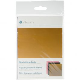 "Silhouette Curio Metal Etching Sheets 5""X7"" 3/Pkg Black, Gold, Pink - CURIOMET"