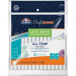 """Elmer'S Craftbond(R) Less Mess All Temp Glue Sticks 7/16""""X4"""" 40/Pkg - E6060"""