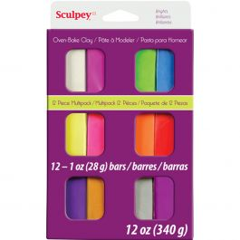 Sculpey Iii Polymer Clay Multipack 1Oz 12/Pkg Brights - S3-VMB6