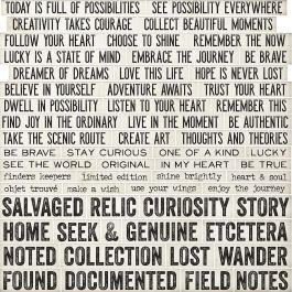 "Idea Ology Chipboard Quote Chips 58/Pkg Word & Phrases .625""X.75"" To 3.75""X.75"" - TH93563"