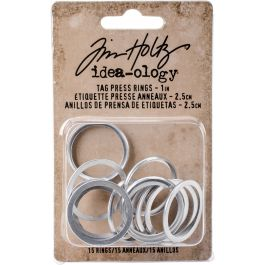 "Tim Holtz Tag Press Rings 1"" 15/Pkg  - TH93591"