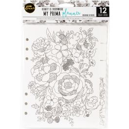 "My Prima Planner Coloring Tabbed Dividers 6.5""X8"" 12/Pkg Beauty Is Everywhere - 592196"