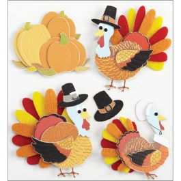 Jolee'S Boutique Dimensional Stickers Turkey Characters - E5020959
