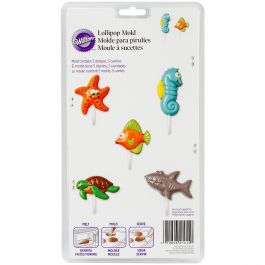 Lollipop Mold Sea Creatures 5 Cavity (5 Designs) - W51414