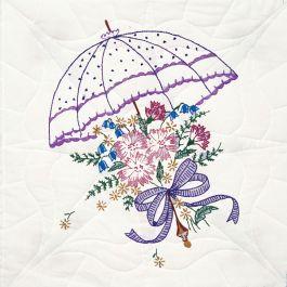 """Fairway Stamped Quilt Blocks 18""""X18"""" 6/Pkg Umbrella - 92106"""