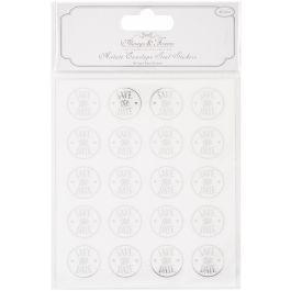 Craft Consortium Always & Forever Envelope Seal Stickers Save Date 25Mm Acetate & Silver, 40/Pkg - AFSTKR03