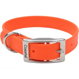 "Coastal 14"" Waterproof Dog Collar Orange - 04612O14"