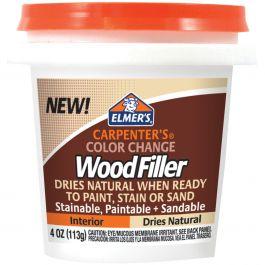 Elmer'S Color Change Wood Filler 4Oz Natural - E912