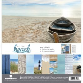 "Paper House Paper Crafting Kit 12""X12"" At The Beach - KTSP1025"
