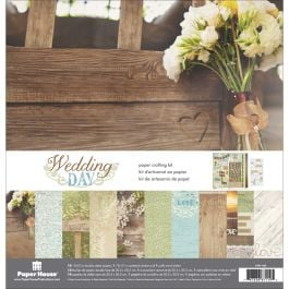 "Paper House Paper Crafting Kit 12""X12"" Wedding Day - KTSP1026"