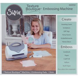 Sizzix Texture Boutique Embossing Machine Gray & White - 660950