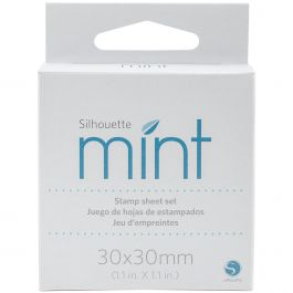 """Silhouette Mint Stamp Sheets 1""""X1"""" 2/Pkg  - STMP3030"""